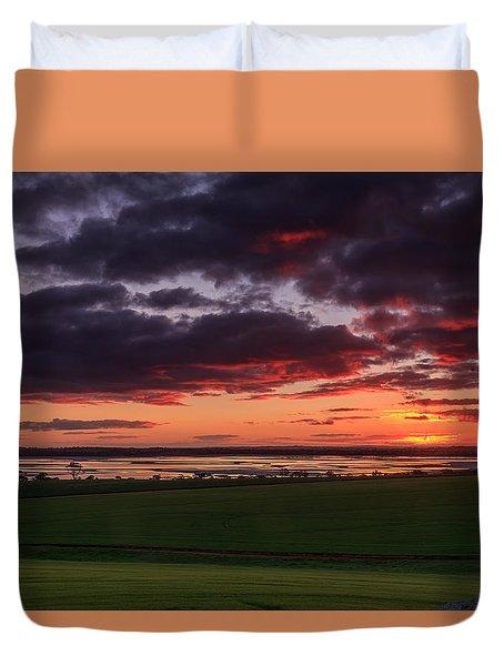 Lake Dumbleyung Sunset Duvet Cover