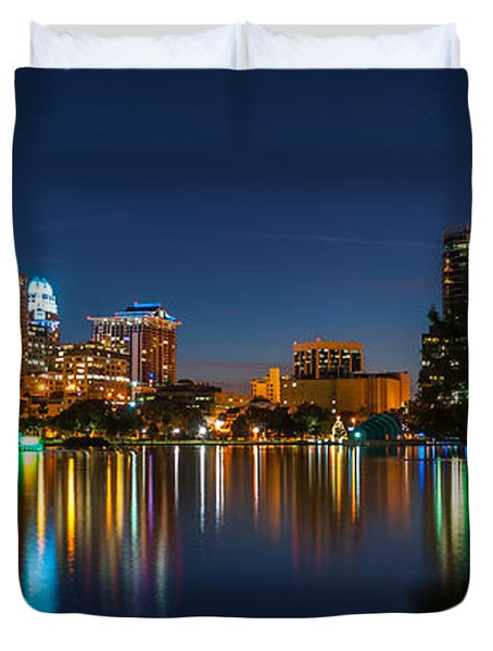 Lake Eola Orlando Duvet Cover