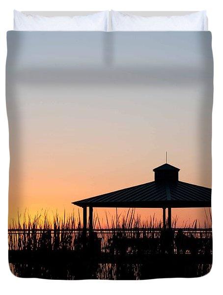 Lake Eustis Sunset Duvet Cover