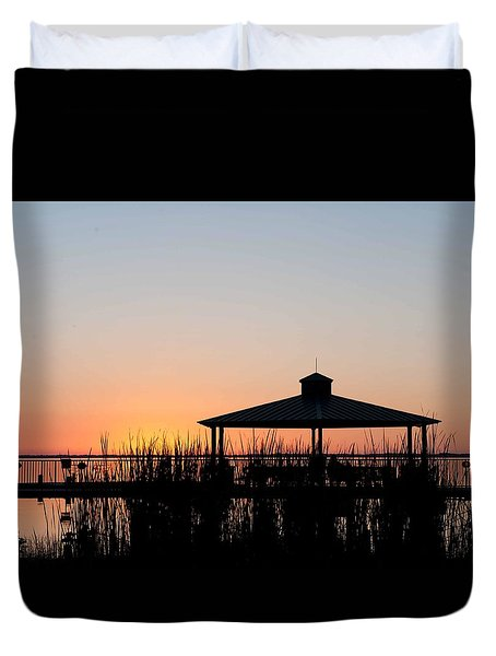 Lake Eustis Sunset Duvet Cover