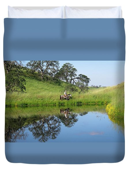 Lake Front Property Duvet Cover