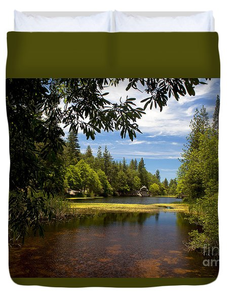 Lake Fulmor View Duvet Cover by Ivete Basso Photography