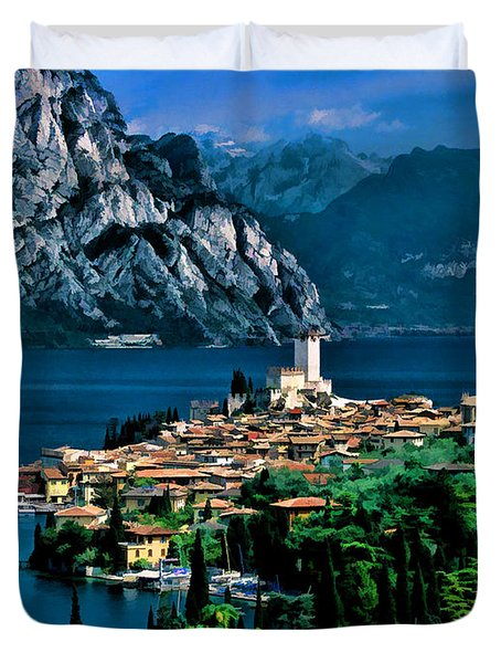 Lake Garda Duvet Cover