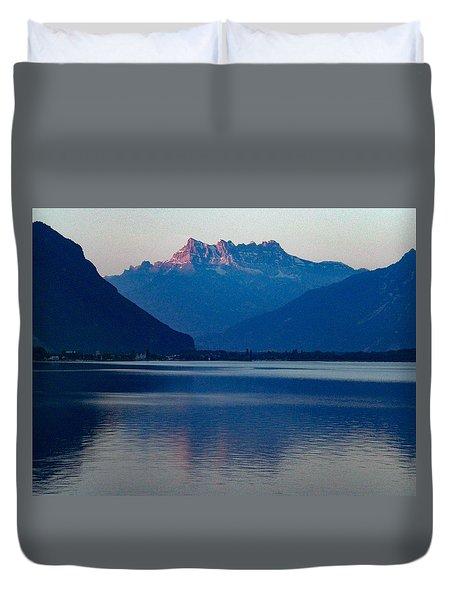 Lake Geneva, Switzerland Duvet Cover
