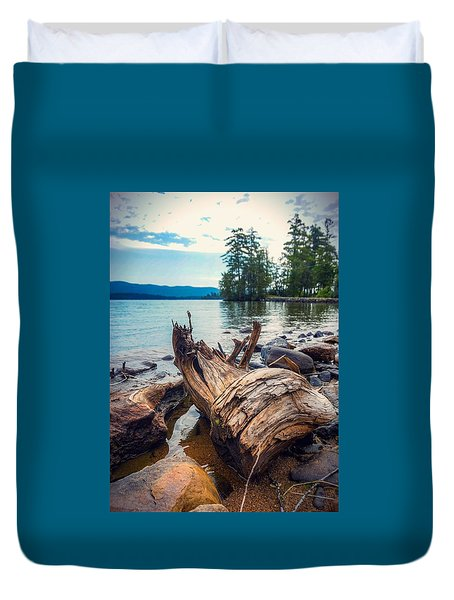 Duvet Cover featuring the photograph Lake George Palette by Kendall McKernon
