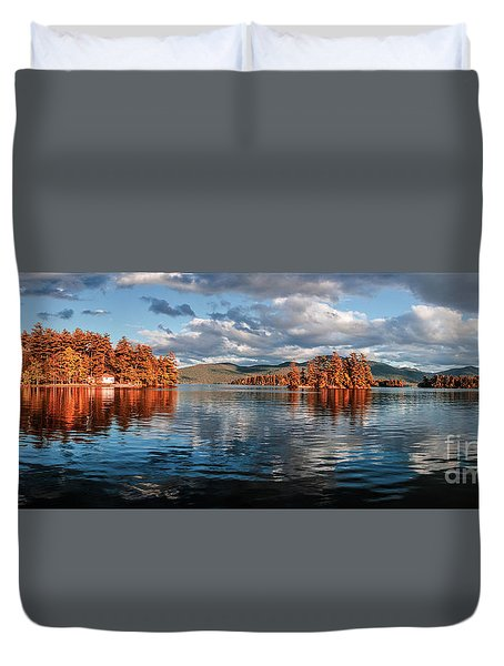 Lake George Panorama  Duvet Cover