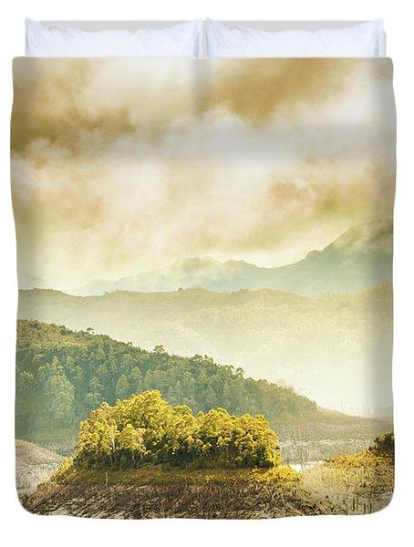 Lake Gordon Landscape Duvet Cover