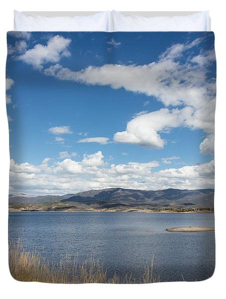 Duvet Cover featuring the photograph Lake Granby -- The Third-largest Body Of Water In Colorado by Carol M Highsmith