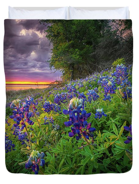 Lake Grapevine Twilight Duvet Cover