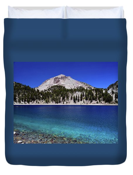 Duvet Cover featuring the photograph Lake Helen Mount Lassen 2 by Frank Wilson