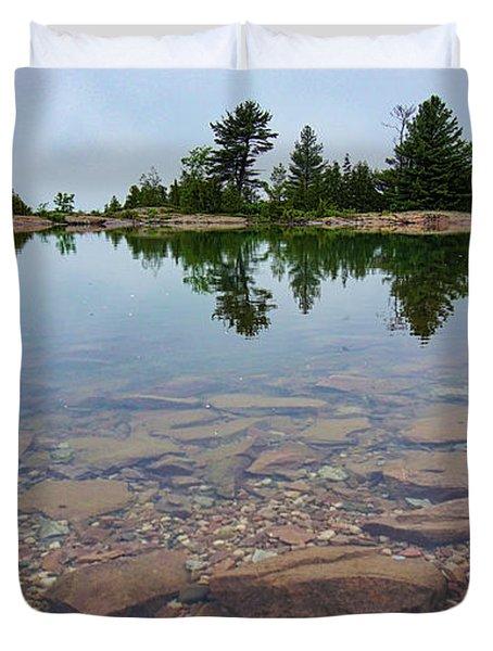 Lake Huron Island Duvet Cover