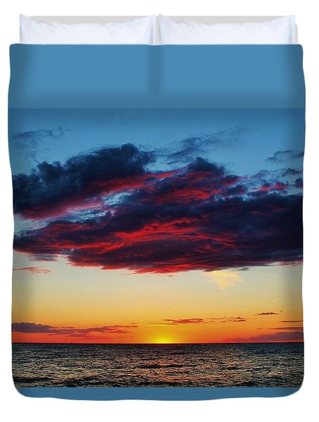 Lake Huron Sunset Duvet Cover
