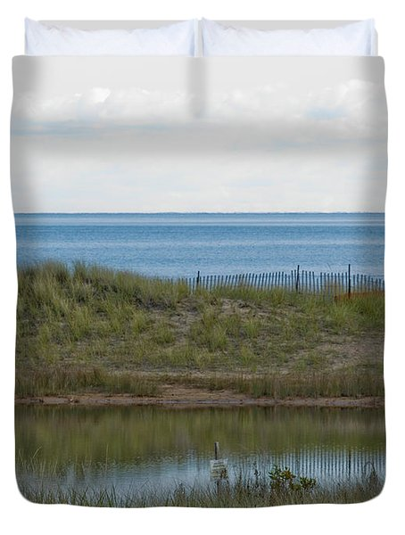 Duvet Cover featuring the photograph Lake Huron by Tara Lynn