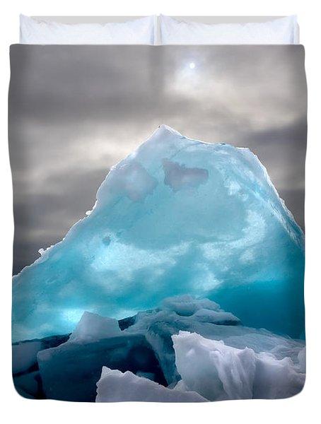 Lake Ice Berg Duvet Cover