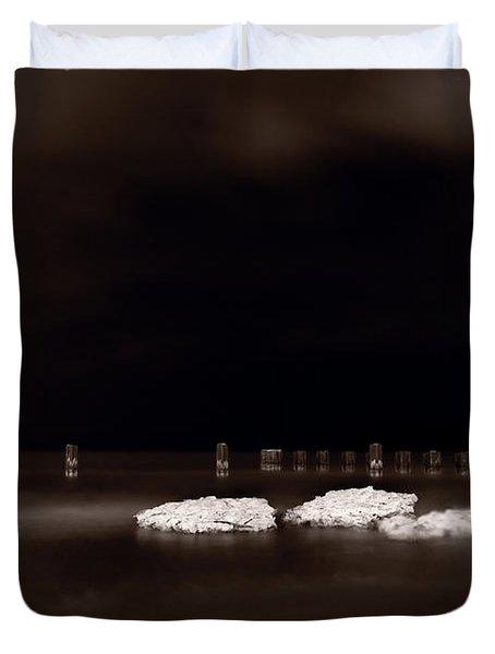 Lake Ice Duvet Cover by Steve Gadomski
