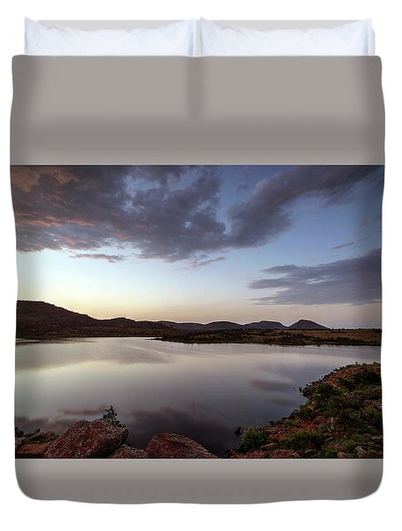 Lake In The Wichita Mountains  Duvet Cover