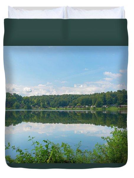 Lake Junaluska #3 September 9 2016 Duvet Cover