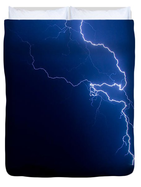 Lake Lightning Strike Duvet Cover