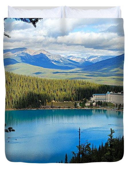 Lake Louise Chalet Duvet Cover