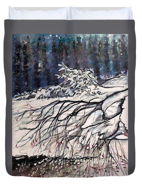 Lake Louise In Winter Duvet Cover
