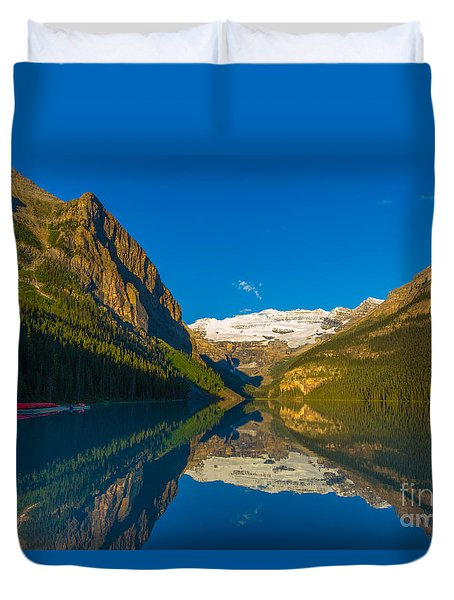 Lake Louise Reflections Duvet Cover
