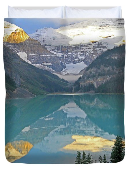 Lake Louise Sunrise Duvet Cover