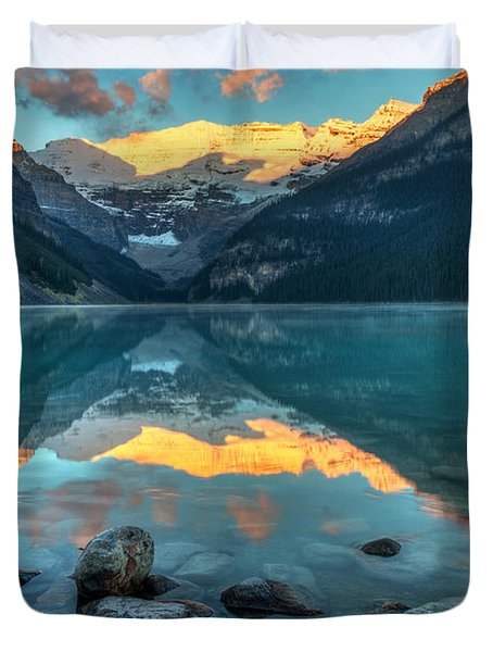 Lake Louise Sunrise Duvet Cover