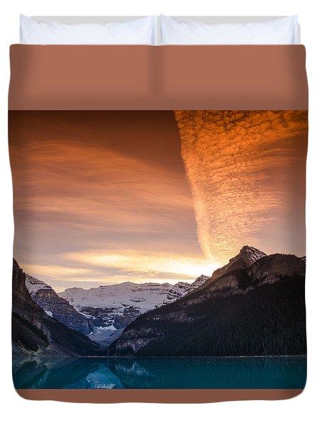 Lake Louise Sunset Duvet Cover