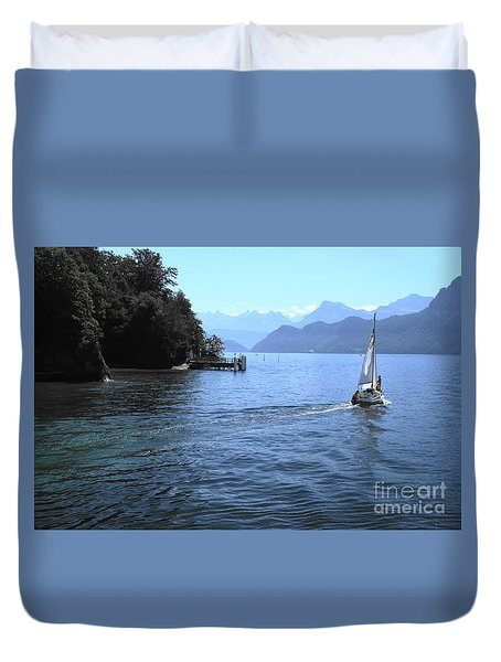 Lake Lucerne Duvet Cover