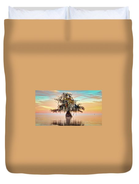 Lake Maurepas In Pastels Duvet Cover
