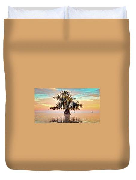 Lake Maurepas In Pastels Duvet Cover