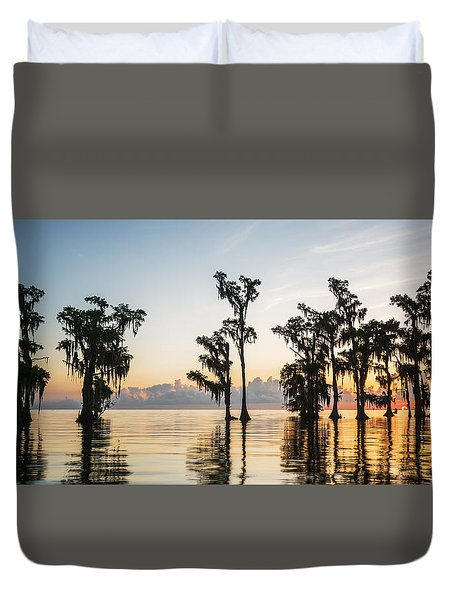 Lake Maurepas Sunrise Duvet Cover