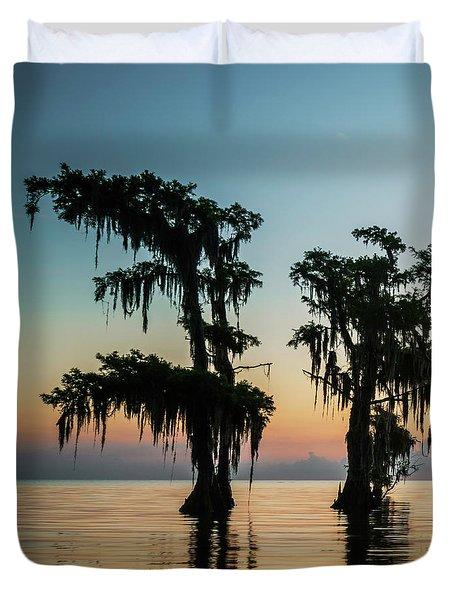 Lake Maurepas Sunrise Triptych No 3 Duvet Cover