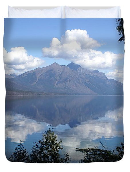 Lake Mcdonald Glacier National Park Duvet Cover by Marty Koch