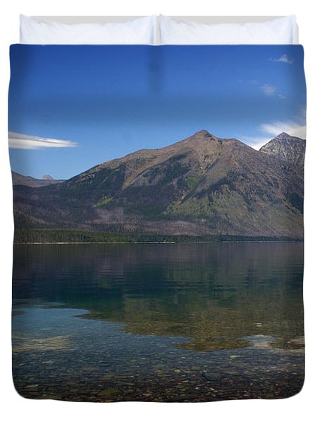 Lake Mcdonald Reflection Glacier National Park 2 Duvet Cover by Marty Koch
