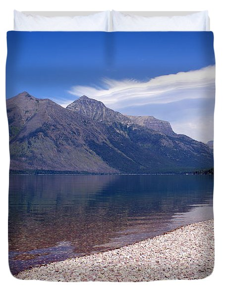Lake Mcdonald Reflection Glacier National Park 4 Duvet Cover by Marty Koch