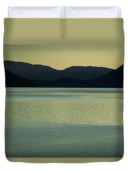 Lake Mcdonald Sunset Duvet Cover