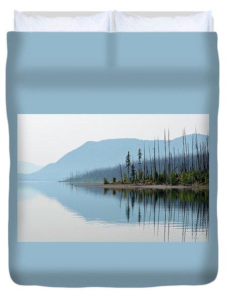Lake Mcdonald Twin Reflections Duvet Cover