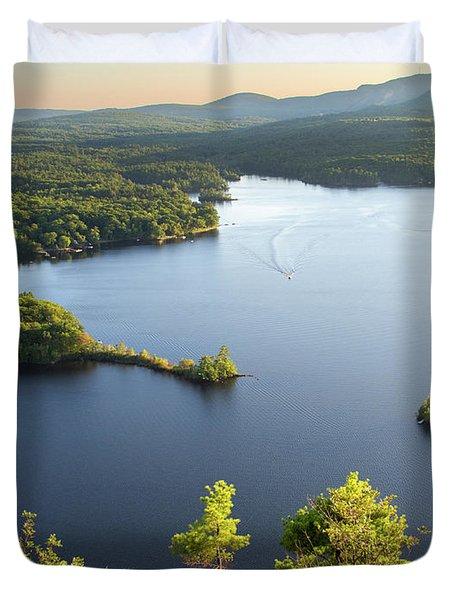 Lake Megunticook, Camden, Maine  -43960-43962 Duvet Cover