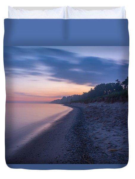 Lake Michigan Morning 2 Duvet Cover