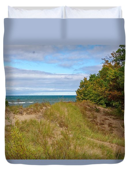Lake Michigan Shore Duvet Cover