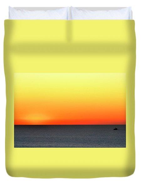 Lake Michigan Sunrise Duvet Cover