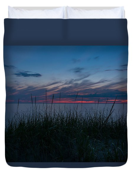 Lake Michigan Sunset 1 Duvet Cover