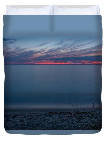 Lake Michigan Sunset 2 Duvet Cover