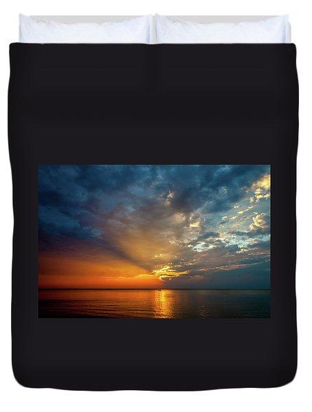 Lake Michigan Sunset Duvet Cover