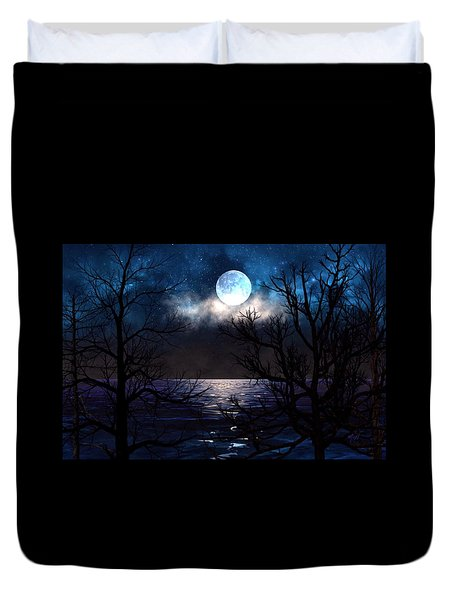 Lake Midnight Duvet Cover