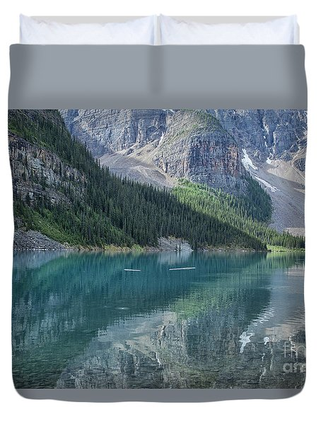 Duvet Cover featuring the photograph Lake Moraine by Patricia Hofmeester