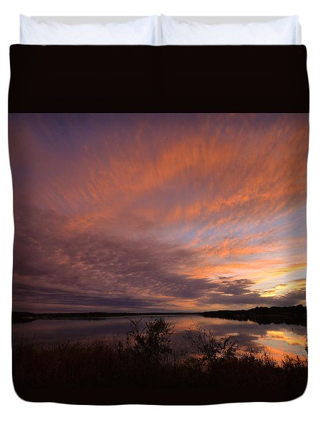 Duvet Cover featuring the photograph Lake Moss 2504b by Ricardo J Ruiz de Porras