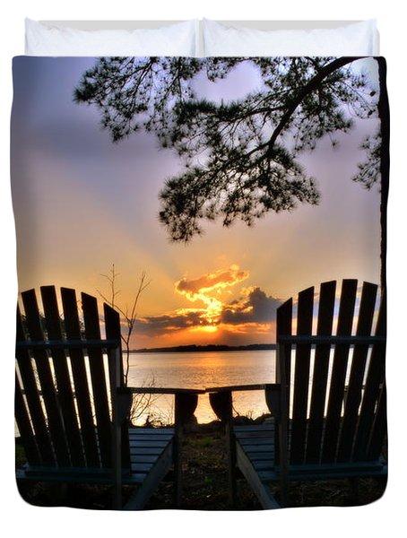 Lake Murray Relaxation Duvet Cover