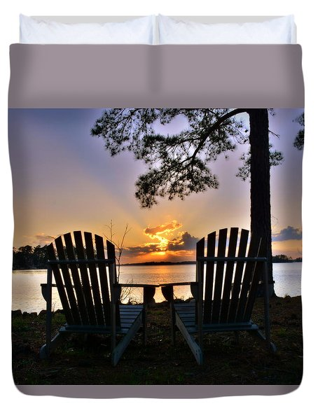 Lake Murray Relaxation Duvet Cover
